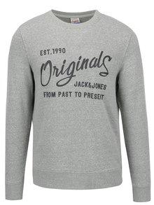 Bluză sport gri Jack & Jones Base cu imprimeu text