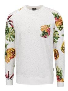 Bluză sport crem Jack & Jones Oriental cu imprimeu tropical