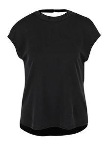 Tricou negru Noisy May Haley cu decupaj la spate