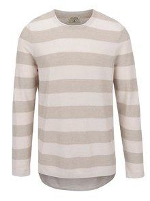 Béžový lehký svetr s příměsí lnu Jack & Jones Bayamo