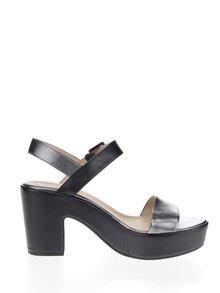 Sandale negre Geox Zaferly din piele