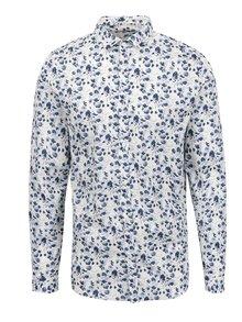Krémovo-modrá vzorovaná košile Jack & Jones Day