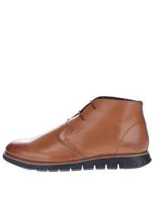 Svetlohnedé kožené členkové topánky London Brogues Gatz Hi