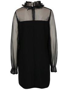 Rochie mini neagră PULSE cu tulle