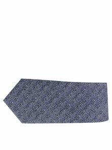 Tmavě modrá vzorovaná kravata s příměsí vlny Selected Homme Norman