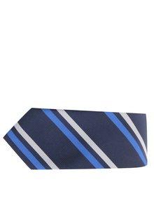 Tmavě modrá pruhovaná kravata Selected Homme Neal