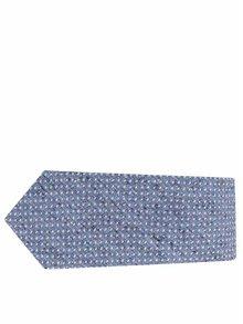 Modrá bodkovaná hodvábna kravata Selected Homme Norman