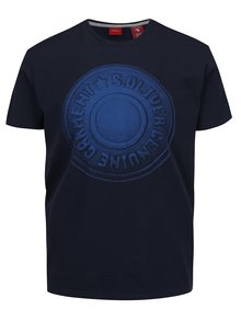 Tricou albastru închis s.Oliver din bumbac cu print