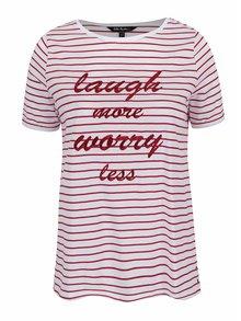 Červeno-biele pruhované tričko s nápisom Ulla Popken