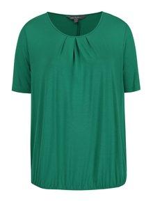 Zelený top s krátkym rukávom Ulla Popken
