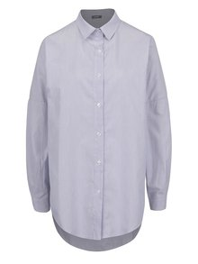Modrá pruhovaná dlhá voľná košeľa ZOOT