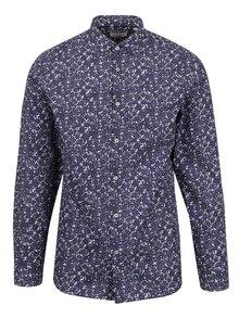 Tmavě modrá květovaná košile Jack & Jones Occasion