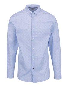 Modrá vzorovaná košeľa Jack & Jones Occasion