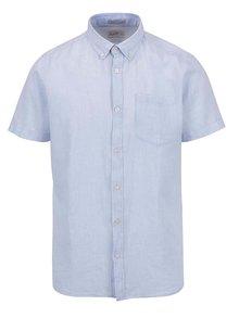 Světle modrá košile s krátkým rukávem Jack & Jones Bech