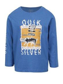 Modré klučičí triko s dlouhým rukávem a potiskem Quiksilver
