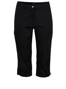 Čierne skrátené nohavice s vreckami Ulla Popken