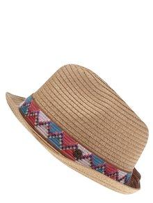 Hnědý dámský klobouk se vzorovaným pruhem Roxy Sentimiento