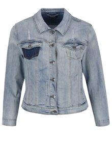 Světle modrá džínová bunda s potrhaným efektem Ulla Popken