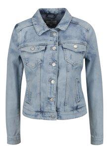 Jachetă albastru deschis din denim QS by s.Oliver cu aspect prespălat