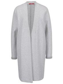 Světle šedý žíhaný dámský lehký kabát s.Oliver