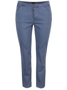Světle modré slim kalhoty Ulla Popken