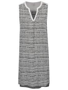 Čierno-biele vzorované šaty bez rukávov QS by s.Oliver