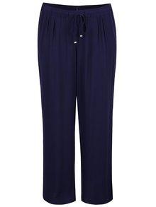 Pantaloni bleumarin Ulla Popken cu talie elastică