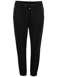 Černé volné rovné kalhoty s kapsami Ulla Popken