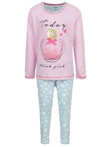 Modro-růžové holčičí pyžamo 5.10.15.