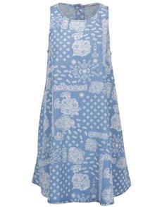 Svetlomodré vzorované šaty s vreckami Rich & Royal