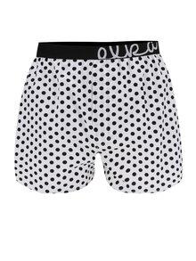 Boxeri albi cu buline pentru barbati - El.Ka Underwear