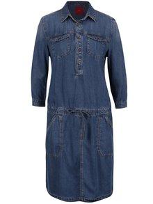 Modré šaty s kapsami s.Oliver