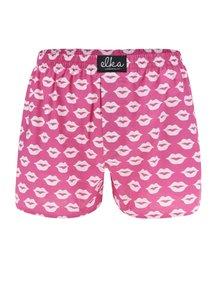 Růžové pánské trenýrky s motivem rtů El.Ka Underwear