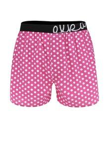 Boxeri roz cu buline El.Ka Underwear