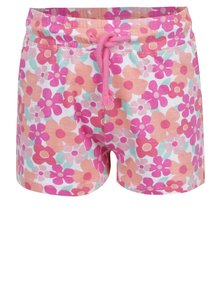 Ružové kvetované dievčenské šortky 5.10.15.