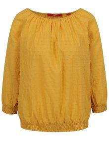 Bluză galbenă s.Oliver din bumbac cu model discret