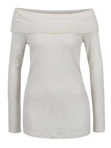 Krémové dámské tričko s odhalenými rameny s.Oliver
