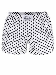 Biele dámske bodkované trenírky El.Ka Underwear