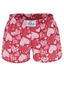 Boxeri roșii cu inimi El.Ka Underwear de damă