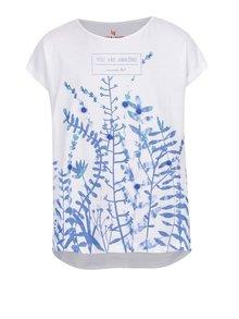 Tricou alb 5.10.15. cu print floral