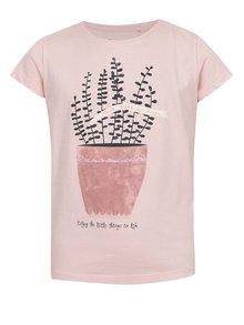 Tricou roz cu print 5.10.15. pentru fete