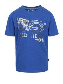 Tricou albastru 5.10.15. cu print