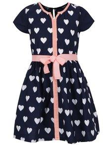 Rochie bleumarin 5.10.15. cu model în formă de inimi
