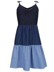 Modré rifľové šaty na ramienka Pepe Jeans Sky