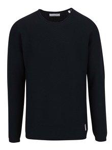 Tmavomodrý sveter s jemným vzorom Lindbergh