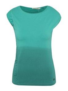 Zelené asymetrické tričko s ombré efektem Skunkfunk