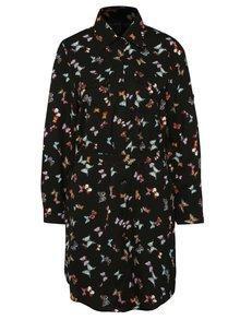 Černé vzorované košilové šaty Mela London