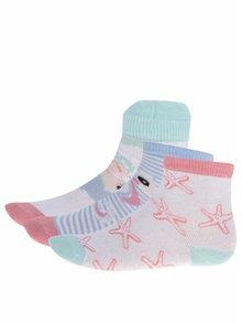 Súprava troch párov dievčenských ponožiek v ružovo-bielej farbe 5.10.15.