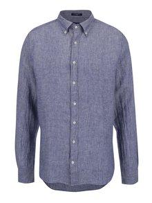 Modrá pánská lněná košile GANT Linen