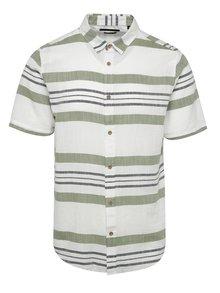 Zeleno-krémová pruhovaná košeľa ONLY & SONS Constantin